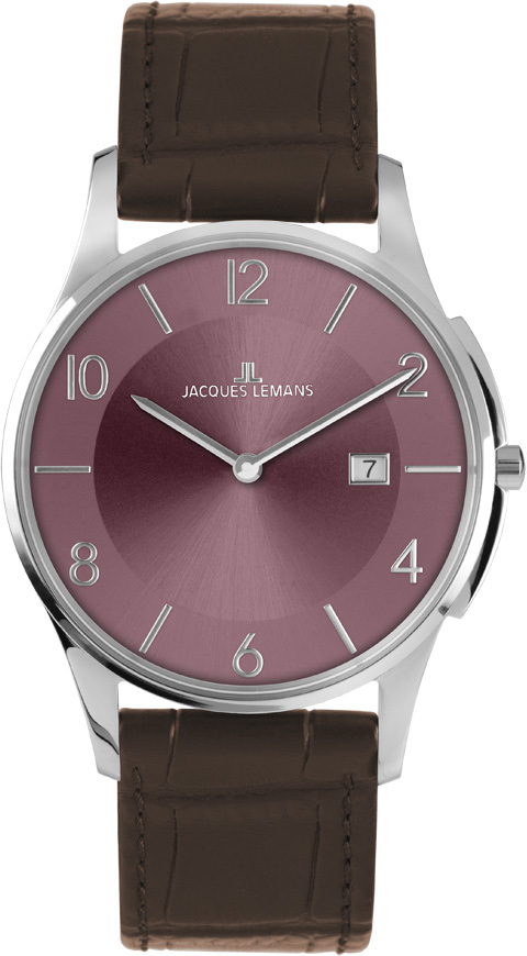 Jacques Lemans 1-1777T - мужские наручные часы из коллекции LondonJacques Lemans<br><br><br>Бренд: Jacques Lemans<br>Модель: Jacques Lemans 1-1777T<br>Артикул: 1-1777T<br>Вариант артикула: None<br>Коллекция: London<br>Подколлекция: None<br>Страна: Австрия<br>Пол: мужские<br>Тип механизма: кварцевые<br>Механизм: None<br>Количество камней: None<br>Автоподзавод: None<br>Источник энергии: от батарейки<br>Срок службы элемента питания: None<br>Дисплей: стрелки<br>Цифры: арабские<br>Водозащита: WR 5<br>Противоударные: None<br>Материал корпуса: нерж. сталь<br>Материал браслета: кожа<br>Материал безеля: None<br>Стекло: Crystex<br>Антибликовое покрытие: None<br>Цвет корпуса: None<br>Цвет браслета: None<br>Цвет циферблата: None<br>Цвет безеля: None<br>Размеры: 38 мм<br>Диаметр: None<br>Диаметр корпуса: None<br>Толщина: None<br>Ширина ремешка: None<br>Вес: None<br>Спорт-функции: None<br>Подсветка: None<br>Вставка: None<br>Отображение даты: число<br>Хронограф: None<br>Таймер: None<br>Термометр: None<br>Хронометр: None<br>GPS: None<br>Радиосинхронизация: None<br>Барометр: None<br>Скелетон: None<br>Дополнительная информация: None<br>Дополнительные функции: None