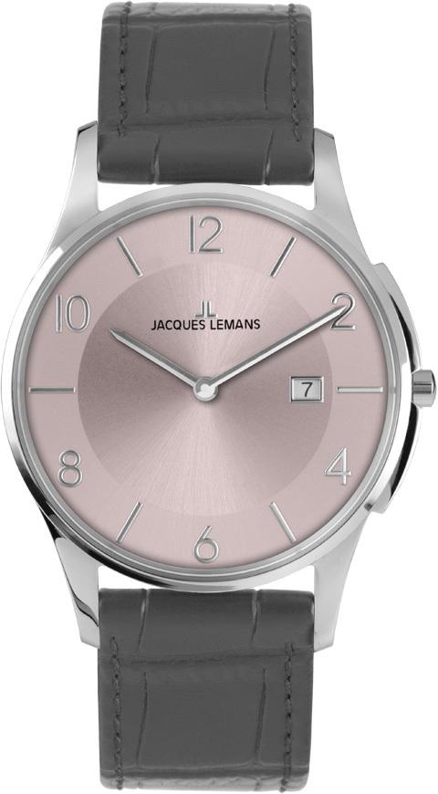 Jacques Lemans 1-1777S - мужские наручные часы из коллекции LondonJacques Lemans<br><br><br>Бренд: Jacques Lemans<br>Модель: Jacques Lemans 1-1777S<br>Артикул: 1-1777S<br>Вариант артикула: None<br>Коллекция: London<br>Подколлекция: None<br>Страна: Австрия<br>Пол: мужские<br>Тип механизма: кварцевые<br>Механизм: None<br>Количество камней: None<br>Автоподзавод: None<br>Источник энергии: от батарейки<br>Срок службы элемента питания: None<br>Дисплей: стрелки<br>Цифры: арабские<br>Водозащита: WR 5<br>Противоударные: None<br>Материал корпуса: нерж. сталь<br>Материал браслета: кожа<br>Материал безеля: None<br>Стекло: Crystex<br>Антибликовое покрытие: None<br>Цвет корпуса: None<br>Цвет браслета: None<br>Цвет циферблата: None<br>Цвет безеля: None<br>Размеры: 38 мм<br>Диаметр: None<br>Диаметр корпуса: None<br>Толщина: None<br>Ширина ремешка: None<br>Вес: None<br>Спорт-функции: None<br>Подсветка: None<br>Вставка: None<br>Отображение даты: число<br>Хронограф: None<br>Таймер: None<br>Термометр: None<br>Хронометр: None<br>GPS: None<br>Радиосинхронизация: None<br>Барометр: None<br>Скелетон: None<br>Дополнительная информация: None<br>Дополнительные функции: None
