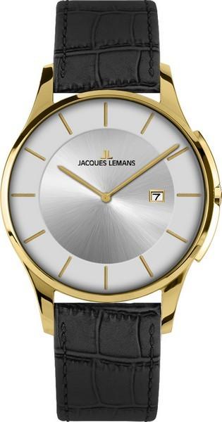 Jacques Lemans 1-1777Q - унисекс наручные часы из коллекции LondonJacques Lemans<br><br><br>Бренд: Jacques Lemans<br>Модель: Jacques Lemans 1-1777Q<br>Артикул: 1-1777Q<br>Вариант артикула: None<br>Коллекция: London<br>Подколлекция: None<br>Страна: Австрия<br>Пол: унисекс<br>Тип механизма: кварцевые<br>Механизм: None<br>Количество камней: None<br>Автоподзавод: None<br>Источник энергии: от батарейки<br>Срок службы элемента питания: None<br>Дисплей: стрелки<br>Цифры: отсутствуют<br>Водозащита: WR 50<br>Противоударные: None<br>Материал корпуса: нерж. сталь, IP покрытие: позолота (полное)<br>Материал браслета: кожа<br>Материал безеля: None<br>Стекло: минеральное<br>Антибликовое покрытие: None<br>Цвет корпуса: None<br>Цвет браслета: None<br>Цвет циферблата: None<br>Цвет безеля: None<br>Размеры: 38 мм<br>Диаметр: None<br>Диаметр корпуса: None<br>Толщина: None<br>Ширина ремешка: None<br>Вес: None<br>Спорт-функции: None<br>Подсветка: None<br>Вставка: None<br>Отображение даты: число<br>Хронограф: None<br>Таймер: None<br>Термометр: None<br>Хронометр: None<br>GPS: None<br>Радиосинхронизация: None<br>Барометр: None<br>Скелетон: None<br>Дополнительная информация: None<br>Дополнительные функции: None