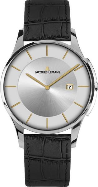 Jacques Lemans 1-1777N - унисекс наручные часы из коллекции LondonJacques Lemans<br><br><br>Бренд: Jacques Lemans<br>Модель: Jacques Lemans 1-1777N<br>Артикул: 1-1777N<br>Вариант артикула: None<br>Коллекция: London<br>Подколлекция: None<br>Страна: Австрия<br>Пол: унисекс<br>Тип механизма: кварцевые<br>Механизм: None<br>Количество камней: None<br>Автоподзавод: None<br>Источник энергии: от батарейки<br>Срок службы элемента питания: None<br>Дисплей: стрелки<br>Цифры: отсутствуют<br>Водозащита: WR 50<br>Противоударные: None<br>Материал корпуса: нерж. сталь<br>Материал браслета: кожа<br>Материал безеля: None<br>Стекло: минеральное<br>Антибликовое покрытие: None<br>Цвет корпуса: None<br>Цвет браслета: None<br>Цвет циферблата: None<br>Цвет безеля: None<br>Размеры: 38 мм<br>Диаметр: None<br>Диаметр корпуса: None<br>Толщина: None<br>Ширина ремешка: None<br>Вес: None<br>Спорт-функции: None<br>Подсветка: None<br>Вставка: None<br>Отображение даты: число<br>Хронограф: None<br>Таймер: None<br>Термометр: None<br>Хронометр: None<br>GPS: None<br>Радиосинхронизация: None<br>Барометр: None<br>Скелетон: None<br>Дополнительная информация: None<br>Дополнительные функции: None