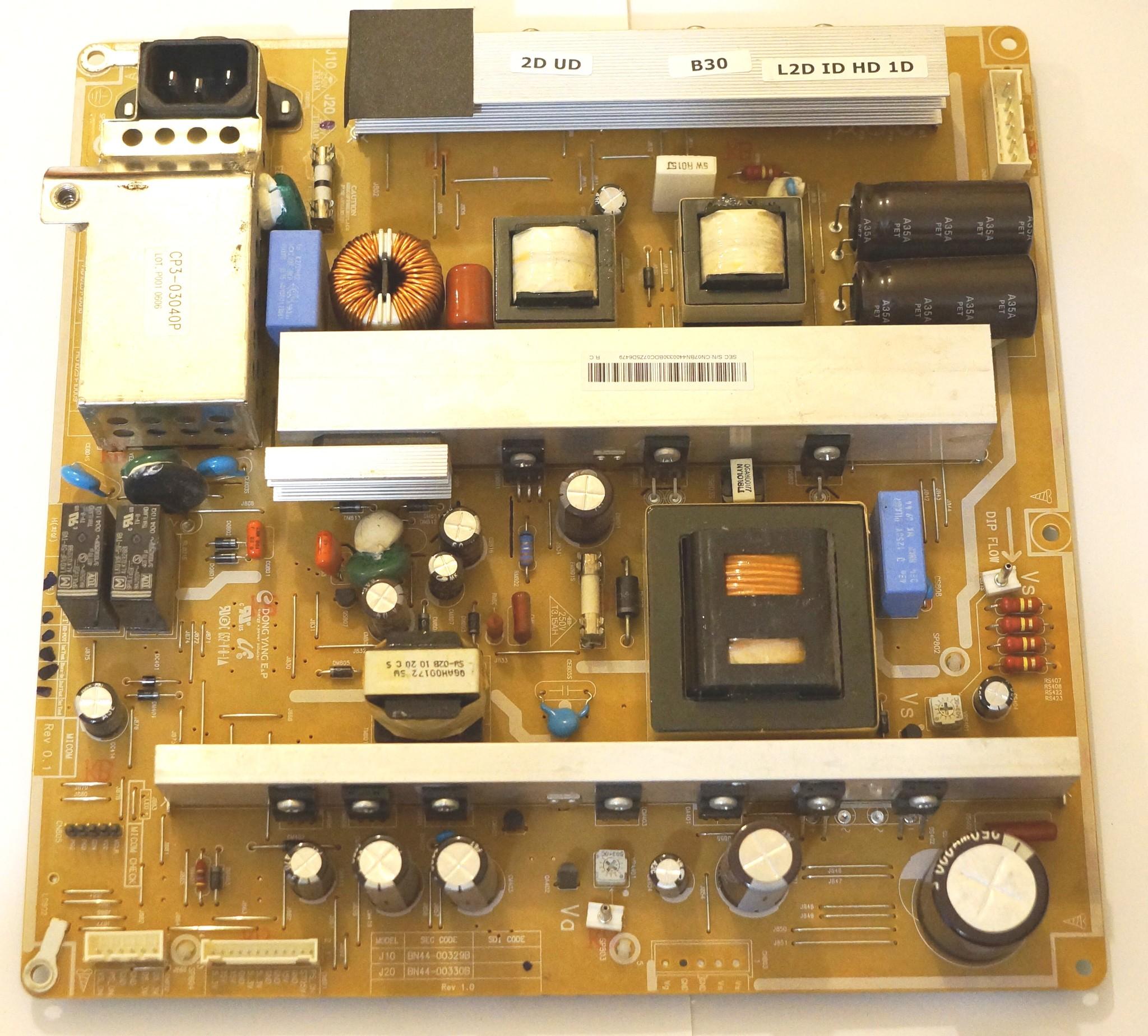 Ремонт блока питания телевизора самсунг