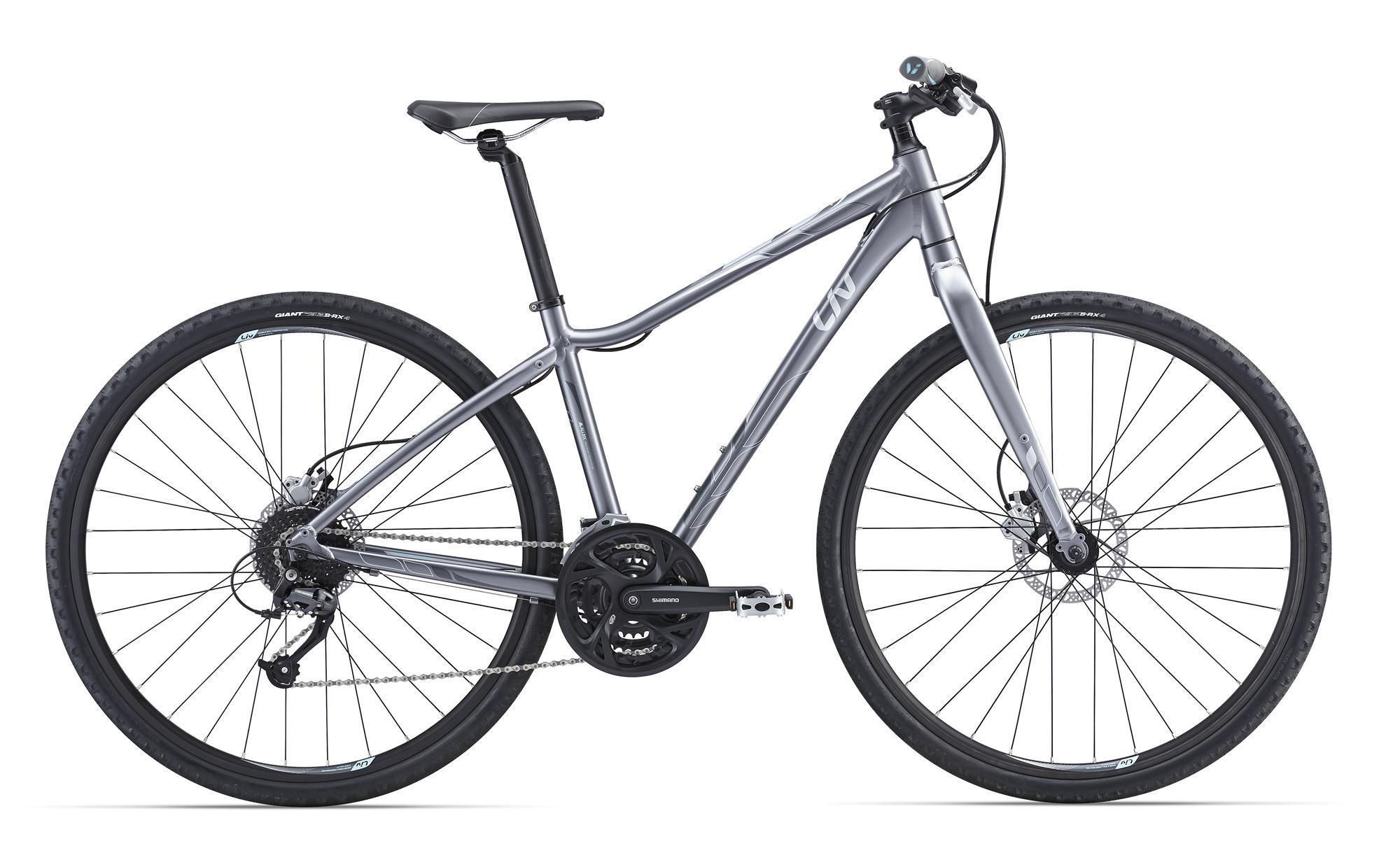 Giant Rove Disc Lite (2016)Дорожные<br>Вы катаетесь преимущественно по городу, но не хотите шоссейный велосипед из-за своеобразной посадки и периодических выездов на легкое бездорожье? Тогда для вас Giant собрали этот велосипед – Rove Disc Lite. Это красивая и удобная женская модель со специальной геометрией LIV и колесами 700с, быстрая и стильная. Чтобы не перегружать его ничем лишним, тем самым урезая его скорость, на Rove Disc Lite установлена жесткая вилка, и она ему очень идет! 27 скоростей оставляют простор воображению в выборе маршрутов, дисковые гидравлические тормоза четко и безотказно работают в любую погоду.<br>