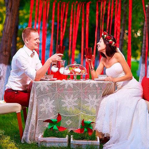 Оформление свадьба на природе своими руками 39