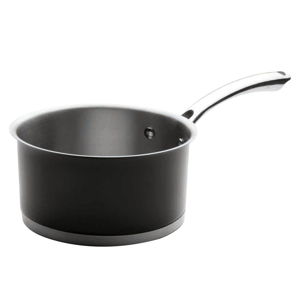 Ковшик 16см (1,5 л) LACOR Cookware Black арт. 44216Ковши<br>Ковшик 16см (1,5 л) LACOR Cookware Black арт. 44216<br><br>вид упаковки:подарочнаявысота (см):8.0диаметр (см):16.0крышка:нетматериал:нержавеющая стальобъем (л):1.50покрытие:без покрытияпредметов в наборе (штук):1ручки:фиксированныестрана:Испаниятип варочной поверхности:все типы поверхностей<br><br>Серия посуды Cookware Black от испанской компании Lacor — это высокое качество, устойчивость к коррозии, прочность, долговечность и привлекательный дизайн. Все кастрюли этой серии изготовлены из хромоникелевой нержавеющей стали, имеют тройное дно и снабжены массивными крышками из ударопрочного стекла. Такая конструкция позволяет использовать меньшее количество масла и воды в процессе приготовления пищи и обеспечивает максимальное сохранение всех полезных свойств и вкусовых качеств блюд.<br>Посуда серии Cookware Black является экологически чистой, поскольку создана из так называемого «медицинского» металла. Крышка и корпус снабжены надежными ручками из материала с низкой теплопроводностью, что обеспечивает комфортную и безопасную эксплуатацию.<br>Официальный продавец LACOR<br>