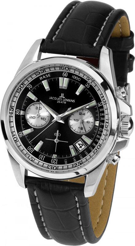Jacques Lemans 1-1830A - мужские наручные часыJacques Lemans<br><br><br>Бренд: Jacques Lemans<br>Модель: Jacques Lemans 1-1830A<br>Артикул: 1-1830A<br>Вариант артикула: None<br>Коллекция: None<br>Подколлекция: None<br>Страна: Австрия<br>Пол: мужские<br>Тип механизма: кварцевые<br>Механизм: None<br>Количество камней: None<br>Автоподзавод: None<br>Источник энергии: от батарейки<br>Срок службы элемента питания: None<br>Дисплей: стрелки<br>Цифры: отсутствуют<br>Водозащита: WR 20<br>Противоударные: None<br>Материал корпуса: нерж. сталь<br>Материал браслета: кожа<br>Материал безеля: None<br>Стекло: Crystex<br>Антибликовое покрытие: None<br>Цвет корпуса: None<br>Цвет браслета: None<br>Цвет циферблата: None<br>Цвет безеля: None<br>Размеры: 40 мм<br>Диаметр: None<br>Диаметр корпуса: None<br>Толщина: None<br>Ширина ремешка: None<br>Вес: None<br>Спорт-функции: секундомер<br>Подсветка: стрелок<br>Вставка: None<br>Отображение даты: число<br>Хронограф: есть<br>Таймер: None<br>Термометр: None<br>Хронометр: None<br>GPS: None<br>Радиосинхронизация: None<br>Барометр: None<br>Скелетон: None<br>Дополнительная информация: None<br>Дополнительные функции: None