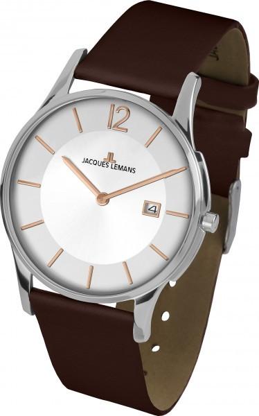Jacques Lemans 1-1850F - мужские наручные часы из коллекции LondonJacques Lemans<br><br><br>Бренд: Jacques Lemans<br>Модель: Jacques Lemans 1-1850F<br>Артикул: 1-1850F<br>Вариант артикула: None<br>Коллекция: London<br>Подколлекция: None<br>Страна: Австрия<br>Пол: мужские<br>Тип механизма: кварцевые<br>Механизм: None<br>Количество камней: None<br>Автоподзавод: None<br>Источник энергии: от батарейки<br>Срок службы элемента питания: None<br>Дисплей: стрелки<br>Цифры: арабские<br>Водозащита: WR 5<br>Противоударные: None<br>Материал корпуса: нерж. сталь<br>Материал браслета: кожа<br>Материал безеля: None<br>Стекло: Crystex<br>Антибликовое покрытие: None<br>Цвет корпуса: None<br>Цвет браслета: None<br>Цвет циферблата: None<br>Цвет безеля: None<br>Размеры: 38 мм<br>Диаметр: None<br>Диаметр корпуса: None<br>Толщина: None<br>Ширина ремешка: None<br>Вес: None<br>Спорт-функции: None<br>Подсветка: None<br>Вставка: None<br>Отображение даты: число<br>Хронограф: None<br>Таймер: None<br>Термометр: None<br>Хронометр: None<br>GPS: None<br>Радиосинхронизация: None<br>Барометр: None<br>Скелетон: None<br>Дополнительная информация: None<br>Дополнительные функции: None