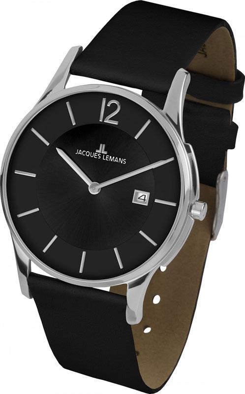 Jacques Lemans 1-1850A - мужские наручные часы из коллекции ClassicJacques Lemans<br><br><br>Бренд: Jacques Lemans<br>Модель: Jacques Lemans 1-1850A<br>Артикул: 1-1850A<br>Вариант артикула: None<br>Коллекция: Classic<br>Подколлекция: None<br>Страна: Австрия<br>Пол: мужские<br>Тип механизма: кварцевые<br>Механизм: None<br>Количество камней: None<br>Автоподзавод: None<br>Источник энергии: от батарейки<br>Срок службы элемента питания: None<br>Дисплей: стрелки<br>Цифры: арабские<br>Водозащита: WR 5<br>Противоударные: None<br>Материал корпуса: нерж. сталь<br>Материал браслета: кожа<br>Материал безеля: None<br>Стекло: Crystex<br>Антибликовое покрытие: None<br>Цвет корпуса: None<br>Цвет браслета: None<br>Цвет циферблата: None<br>Цвет безеля: None<br>Размеры: 38 мм<br>Диаметр: None<br>Диаметр корпуса: None<br>Толщина: None<br>Ширина ремешка: None<br>Вес: None<br>Спорт-функции: None<br>Подсветка: None<br>Вставка: None<br>Отображение даты: число<br>Хронограф: None<br>Таймер: None<br>Термометр: None<br>Хронометр: None<br>GPS: None<br>Радиосинхронизация: None<br>Барометр: None<br>Скелетон: None<br>Дополнительная информация: None<br>Дополнительные функции: None
