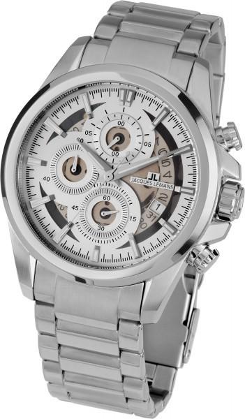 Jacques Lemans 1-1847F - мужские наручные часы из коллекции LiverpoolJacques Lemans<br><br><br>Бренд: Jacques Lemans<br>Модель: Jacques Lemans 1-1847F<br>Артикул: 1-1847F<br>Вариант артикула: None<br>Коллекция: Liverpool<br>Подколлекция: None<br>Страна: Австрия<br>Пол: мужские<br>Тип механизма: кварцевые<br>Механизм: None<br>Количество камней: None<br>Автоподзавод: None<br>Источник энергии: от батарейки<br>Срок службы элемента питания: None<br>Дисплей: стрелки<br>Цифры: отсутствуют<br>Водозащита: WR 10<br>Противоударные: None<br>Материал корпуса: нерж. сталь<br>Материал браслета: нерж. сталь<br>Материал безеля: None<br>Стекло: Crystex<br>Антибликовое покрытие: None<br>Цвет корпуса: None<br>Цвет браслета: None<br>Цвет циферблата: None<br>Цвет безеля: None<br>Размеры: 46 мм<br>Диаметр: None<br>Диаметр корпуса: None<br>Толщина: None<br>Ширина ремешка: None<br>Вес: None<br>Спорт-функции: секундомер<br>Подсветка: стрелок<br>Вставка: None<br>Отображение даты: число<br>Хронограф: есть<br>Таймер: None<br>Термометр: None<br>Хронометр: None<br>GPS: None<br>Радиосинхронизация: None<br>Барометр: None<br>Скелетон: None<br>Дополнительная информация: None<br>Дополнительные функции: None