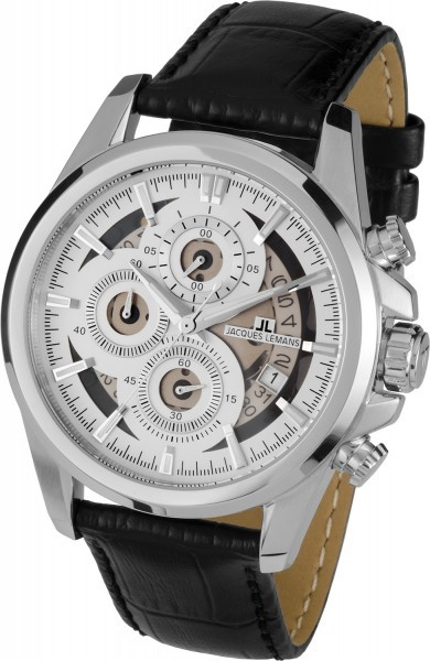 Jacques Lemans 1-1847B - мужские наручные часы из коллекции LiverpoolJacques Lemans<br><br><br>Бренд: Jacques Lemans<br>Модель: Jacques Lemans 1-1847B<br>Артикул: 1-1847B<br>Вариант артикула: None<br>Коллекция: Liverpool<br>Подколлекция: None<br>Страна: Австрия<br>Пол: мужские<br>Тип механизма: кварцевые<br>Механизм: None<br>Количество камней: None<br>Автоподзавод: None<br>Источник энергии: от батарейки<br>Срок службы элемента питания: None<br>Дисплей: стрелки<br>Цифры: отсутствуют<br>Водозащита: WR 10<br>Противоударные: None<br>Материал корпуса: нерж. сталь<br>Материал браслета: кожа<br>Материал безеля: None<br>Стекло: Crystex<br>Антибликовое покрытие: None<br>Цвет корпуса: None<br>Цвет браслета: None<br>Цвет циферблата: None<br>Цвет безеля: None<br>Размеры: 46 мм<br>Диаметр: None<br>Диаметр корпуса: None<br>Толщина: None<br>Ширина ремешка: None<br>Вес: None<br>Спорт-функции: секундомер<br>Подсветка: стрелок<br>Вставка: None<br>Отображение даты: число<br>Хронограф: есть<br>Таймер: None<br>Термометр: None<br>Хронометр: None<br>GPS: None<br>Радиосинхронизация: None<br>Барометр: None<br>Скелетон: None<br>Дополнительная информация: None<br>Дополнительные функции: None