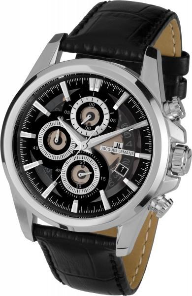 Jacques Lemans 1-1847A - мужские наручные часы из коллекции LiverpoolJacques Lemans<br><br><br>Бренд: Jacques Lemans<br>Модель: Jacques Lemans 1-1847A<br>Артикул: 1-1847A<br>Вариант артикула: None<br>Коллекция: Liverpool<br>Подколлекция: None<br>Страна: Австрия<br>Пол: мужские<br>Тип механизма: кварцевые<br>Механизм: None<br>Количество камней: None<br>Автоподзавод: None<br>Источник энергии: от батарейки<br>Срок службы элемента питания: None<br>Дисплей: стрелки<br>Цифры: отсутствуют<br>Водозащита: WR 10<br>Противоударные: None<br>Материал корпуса: нерж. сталь<br>Материал браслета: кожа<br>Материал безеля: None<br>Стекло: Crystex<br>Антибликовое покрытие: None<br>Цвет корпуса: None<br>Цвет браслета: None<br>Цвет циферблата: None<br>Цвет безеля: None<br>Размеры: 46 мм<br>Диаметр: None<br>Диаметр корпуса: None<br>Толщина: None<br>Ширина ремешка: None<br>Вес: None<br>Спорт-функции: секундомер<br>Подсветка: стрелок<br>Вставка: None<br>Отображение даты: число<br>Хронограф: есть<br>Таймер: None<br>Термометр: None<br>Хронометр: None<br>GPS: None<br>Радиосинхронизация: None<br>Барометр: None<br>Скелетон: None<br>Дополнительная информация: None<br>Дополнительные функции: None