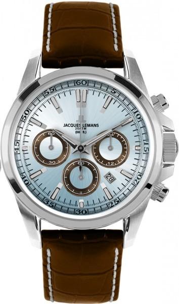Jacques Lemans 1-1117SN - мужские наручные часы из коллекции SportJacques Lemans<br><br><br>Бренд: Jacques Lemans<br>Модель: Jacques Lemans 1-1117SN<br>Артикул: 1-1117SN<br>Вариант артикула: None<br>Коллекция: Sport<br>Подколлекция: None<br>Страна: Австрия<br>Пол: мужские<br>Тип механизма: кварцевые<br>Механизм: None<br>Количество камней: None<br>Автоподзавод: None<br>Источник энергии: от батарейки<br>Срок службы элемента питания: None<br>Дисплей: стрелки<br>Цифры: отсутствуют<br>Водозащита: WR 200<br>Противоударные: None<br>Материал корпуса: нерж. сталь<br>Материал браслета: кожа<br>Материал безеля: None<br>Стекло: минеральное<br>Антибликовое покрытие: None<br>Цвет корпуса: None<br>Цвет браслета: None<br>Цвет циферблата: None<br>Цвет безеля: None<br>Размеры: 44 мм<br>Диаметр: None<br>Диаметр корпуса: None<br>Толщина: None<br>Ширина ремешка: None<br>Вес: None<br>Спорт-функции: секундомер<br>Подсветка: стрелок<br>Вставка: None<br>Отображение даты: число<br>Хронограф: есть<br>Таймер: None<br>Термометр: None<br>Хронометр: None<br>GPS: None<br>Радиосинхронизация: None<br>Барометр: None<br>Скелетон: None<br>Дополнительная информация: None<br>Дополнительные функции: None