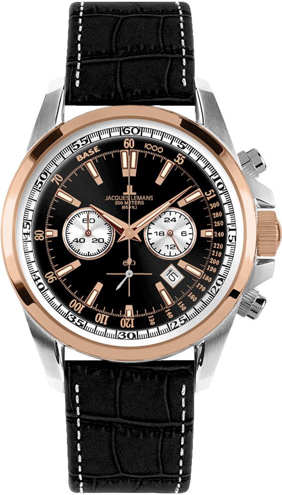 Jacques Lemans 1-1117MN - мужские наручные часы из коллекции LiverpoolJacques Lemans<br><br><br>Бренд: Jacques Lemans<br>Модель: Jacques Lemans 1-1117MN<br>Артикул: 1-1117MN<br>Вариант артикула: None<br>Коллекция: Liverpool<br>Подколлекция: None<br>Страна: Австрия<br>Пол: мужские<br>Тип механизма: кварцевые<br>Механизм: Miyota FS20<br>Количество камней: None<br>Автоподзавод: None<br>Источник энергии: от батарейки<br>Срок службы элемента питания: None<br>Дисплей: стрелки<br>Цифры: отсутствуют<br>Водозащита: WR 20<br>Противоударные: None<br>Материал корпуса: нерж. сталь, PVD покрытие (частичное)<br>Материал браслета: кожа<br>Материал безеля: None<br>Стекло: Crystex<br>Антибликовое покрытие: None<br>Цвет корпуса: None<br>Цвет браслета: None<br>Цвет циферблата: None<br>Цвет безеля: None<br>Размеры: 44 мм<br>Диаметр: None<br>Диаметр корпуса: None<br>Толщина: None<br>Ширина ремешка: None<br>Вес: None<br>Спорт-функции: секундомер<br>Подсветка: стрелок<br>Вставка: None<br>Отображение даты: число<br>Хронограф: есть<br>Таймер: None<br>Термометр: None<br>Хронометр: None<br>GPS: None<br>Радиосинхронизация: None<br>Барометр: None<br>Скелетон: None<br>Дополнительная информация: элемент питания SR626SW (срок службы 24 месяца)<br>Дополнительные функции: None