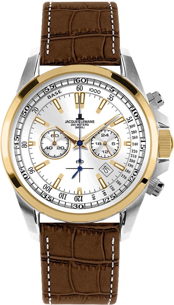 Jacques Lemans 1-1117DN - мужские наручные часы из коллекции LiverpoolJacques Lemans<br><br><br>Бренд: Jacques Lemans<br>Модель: Jacques Lemans 1-1117DN<br>Артикул: 1-1117DN<br>Вариант артикула: None<br>Коллекция: Liverpool<br>Подколлекция: None<br>Страна: Австрия<br>Пол: мужские<br>Тип механизма: кварцевые<br>Механизм: None<br>Количество камней: None<br>Автоподзавод: None<br>Источник энергии: от батарейки<br>Срок службы элемента питания: None<br>Дисплей: стрелки<br>Цифры: отсутствуют<br>Водозащита: WR 20<br>Противоударные: None<br>Материал корпуса: нерж. сталь, покрытие: позолота (частичное)<br>Материал браслета: кожа<br>Материал безеля: None<br>Стекло: Crystex<br>Антибликовое покрытие: None<br>Цвет корпуса: None<br>Цвет браслета: None<br>Цвет циферблата: None<br>Цвет безеля: None<br>Размеры: 44x44 мм<br>Диаметр: None<br>Диаметр корпуса: None<br>Толщина: None<br>Ширина ремешка: None<br>Вес: None<br>Спорт-функции: секундомер<br>Подсветка: стрелок<br>Вставка: None<br>Отображение даты: число<br>Хронограф: есть<br>Таймер: None<br>Термометр: None<br>Хронометр: None<br>GPS: None<br>Радиосинхронизация: None<br>Барометр: None<br>Скелетон: None<br>Дополнительная информация: None<br>Дополнительные функции: None