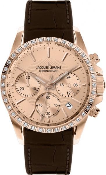 Jacques Lemans 1-1724C - женские наручные часы из коллекции LiverpoolJacques Lemans<br><br><br>Бренд: Jacques Lemans<br>Модель: Jacques Lemans 1-1724C<br>Артикул: 1-1724C<br>Вариант артикула: None<br>Коллекция: Liverpool<br>Подколлекция: None<br>Страна: Австрия<br>Пол: женские<br>Тип механизма: кварцевые<br>Механизм: None<br>Количество камней: None<br>Автоподзавод: None<br>Источник энергии: от батарейки<br>Срок службы элемента питания: None<br>Дисплей: стрелки<br>Цифры: отсутствуют<br>Водозащита: WR 10<br>Противоударные: None<br>Материал корпуса: нерж. сталь, IP покрытие (полное)<br>Материал браслета: кожа<br>Материал безеля: None<br>Стекло: Crystex<br>Антибликовое покрытие: None<br>Цвет корпуса: None<br>Цвет браслета: None<br>Цвет циферблата: None<br>Цвет безеля: None<br>Размеры: 35 мм<br>Диаметр: None<br>Диаметр корпуса: None<br>Толщина: None<br>Ширина ремешка: None<br>Вес: None<br>Спорт-функции: секундомер<br>Подсветка: None<br>Вставка: кристаллы Swarovski<br>Отображение даты: число<br>Хронограф: есть<br>Таймер: None<br>Термометр: None<br>Хронометр: None<br>GPS: None<br>Радиосинхронизация: None<br>Барометр: None<br>Скелетон: None<br>Дополнительная информация: None<br>Дополнительные функции: None