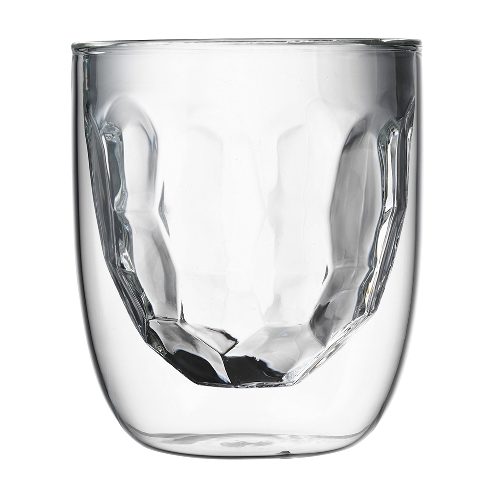 Стаканы QDO Elements Metal 2 шт. 75 мл. 567323Бокалы и стаканы<br>Стаканы QDO Elements Metal 2 шт. 75 мл.<br><br>Набор Elements - это оригинальные стаканы с двойными стенками и оригинальным дизайном, изображающим главные элементы природы. Выполнен из боросиликатного стекла, устойчивого к перепадам температур. Каждый стакан состоит из двух форм: классическая внешняя позволит держать емкость с горячим содержимым в руке без риска обжечься, а модифицированная внутренняя придаст вашим напиткам необычный вид. Стаканы станут идеальным украшением барной стойки, вечеринки или просто домашней коллекции.<br>Объем - 75 мл. Можно мыть в посудомоечной машине.<br>