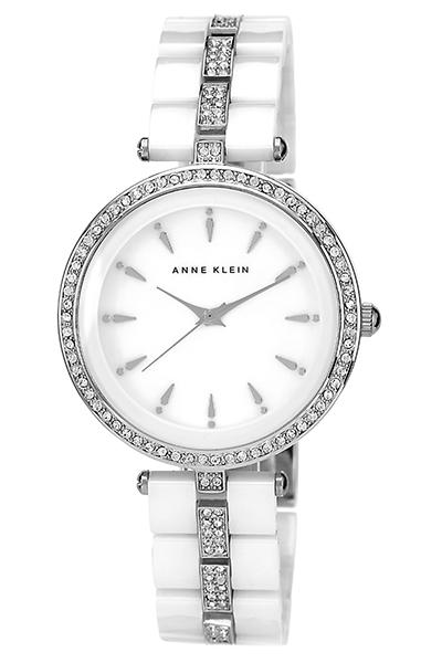 Anne Klein 1445WTSV - женские наручные часы из коллекции CeramicsAnne Klein<br><br><br>Бренд: Anne Klein<br>Модель: Anne Klein 1445 WTSV<br>Артикул: 1445WTSV<br>Вариант артикула: None<br>Коллекция: Ceramics<br>Подколлекция: None<br>Страна: США<br>Пол: женские<br>Тип механизма: кварцевые<br>Механизм: None<br>Количество камней: None<br>Автоподзавод: None<br>Источник энергии: от батарейки<br>Срок службы элемента питания: None<br>Дисплей: стрелки<br>Цифры: отсутствуют<br>Водозащита: WR 30<br>Противоударные: None<br>Материал корпуса: нерж. сталь<br>Материал браслета: нерж. сталь + керамика<br>Материал безеля: None<br>Стекло: минеральное<br>Антибликовое покрытие: None<br>Цвет корпуса: None<br>Цвет браслета: None<br>Цвет циферблата: None<br>Цвет безеля: None<br>Размеры: 35x9 мм<br>Диаметр: None<br>Диаметр корпуса: None<br>Толщина: None<br>Ширина ремешка: None<br>Вес: None<br>Спорт-функции: None<br>Подсветка: None<br>Вставка: кристаллы Swarovski<br>Отображение даты: None<br>Хронограф: None<br>Таймер: None<br>Термометр: None<br>Хронометр: None<br>GPS: None<br>Радиосинхронизация: None<br>Барометр: None<br>Скелетон: None<br>Дополнительная информация: None<br>Дополнительные функции: None