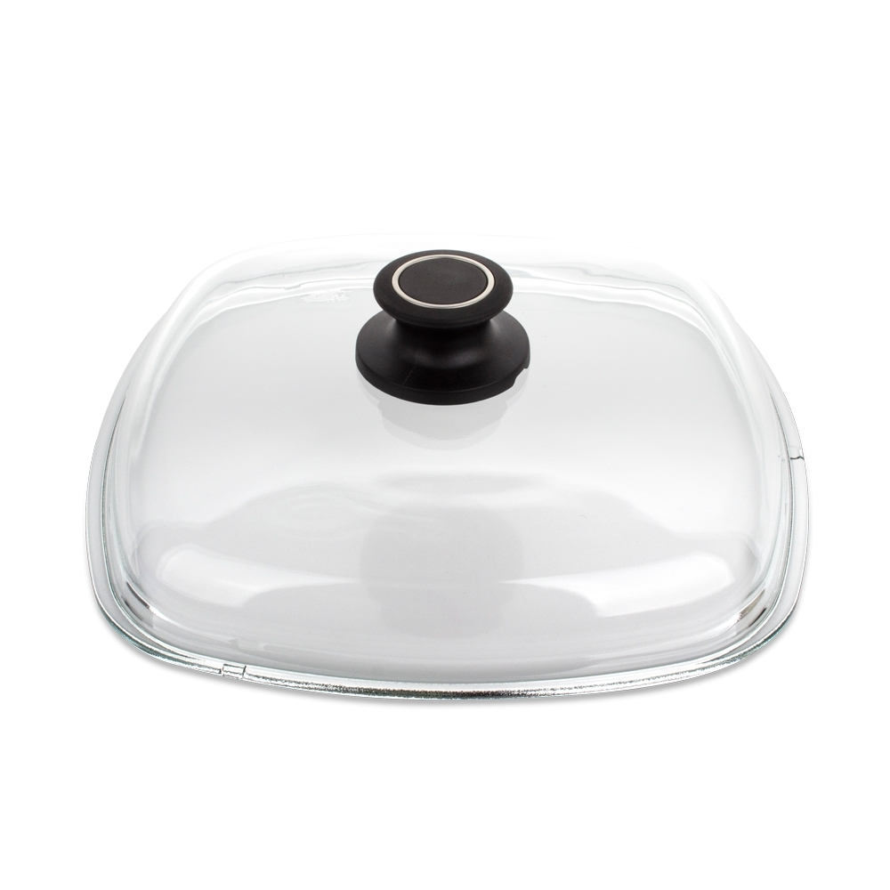 Крышка стеклянная квадратная 26x26 см AMT Glass Lids арт. AMTE26Крышки<br>диаметр (см): 26.0материал: стеклопредметов в наборе (штук): 1ручки: фиксированныестрана: Германия<br>