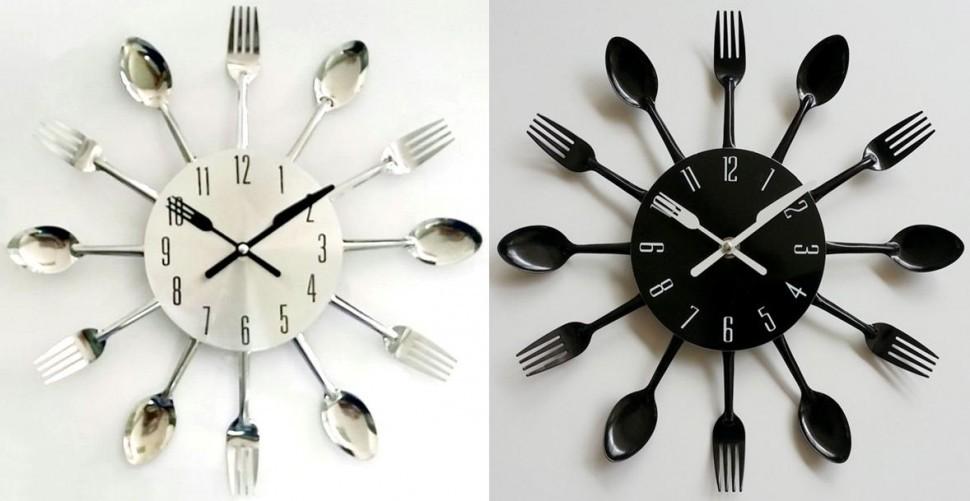 Часы с ложкой и вилкой своими руками