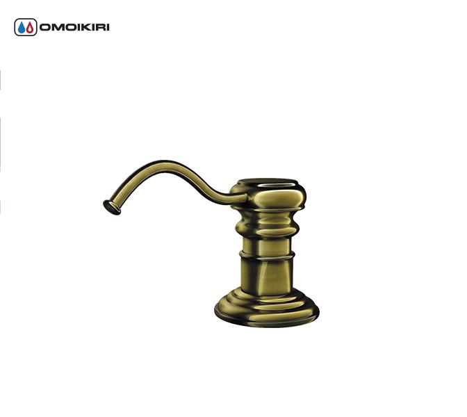 Дозатор для моющего средства OMOIKIRI OM-01-AB (4995003)Диспенсеры для мойки<br>Дозатор для моющего средства OMOIKIRI OM-01-AB (4995003)<br><br><br>Дозаторы легко заполняются моющим средством – нужно залить его в емкость сверху.<br>Диспенсер порционно дозирует жидкое средство, необходимо только поднести к носику губку после нажатия. <br>Монтаж: возможна установка на кухне и в ванной комнате.<br>Отверстие для установки: 25 мм<br>Гарантия 1 год.<br>