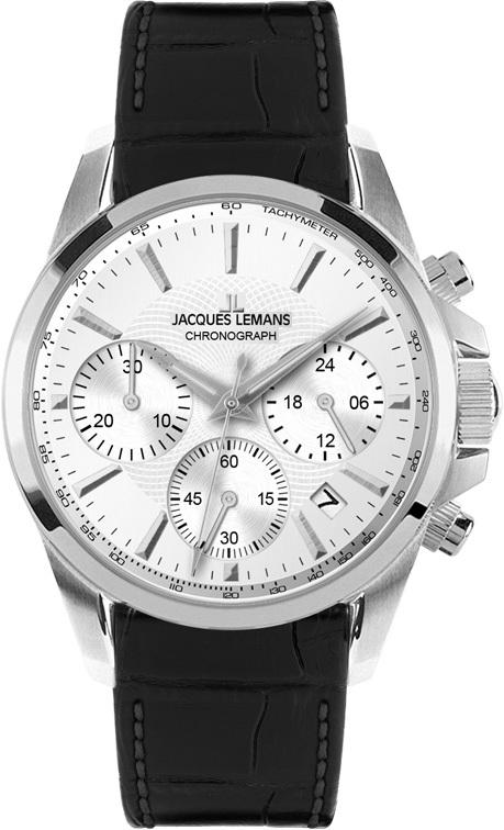 Jacques Lemans 1-1752C - женские наручные часы из коллекции LiverpoolJacques Lemans<br><br><br>Бренд: Jacques Lemans<br>Модель: Jacques Lemans 1-1752C<br>Артикул: 1-1752C<br>Вариант артикула: None<br>Коллекция: Liverpool<br>Подколлекция: None<br>Страна: Австрия<br>Пол: женские<br>Тип механизма: кварцевые<br>Механизм: None<br>Количество камней: None<br>Автоподзавод: None<br>Источник энергии: от батарейки<br>Срок службы элемента питания: None<br>Дисплей: стрелки<br>Цифры: отсутствуют<br>Водозащита: WR 100<br>Противоударные: None<br>Материал корпуса: нерж. сталь<br>Материал браслета: кожа<br>Материал безеля: None<br>Стекло: минеральное<br>Антибликовое покрытие: None<br>Цвет корпуса: None<br>Цвет браслета: None<br>Цвет циферблата: None<br>Цвет безеля: None<br>Размеры: 35 мм<br>Диаметр: None<br>Диаметр корпуса: None<br>Толщина: None<br>Ширина ремешка: None<br>Вес: None<br>Спорт-функции: секундомер<br>Подсветка: стрелок<br>Вставка: None<br>Отображение даты: число<br>Хронограф: есть<br>Таймер: None<br>Термометр: None<br>Хронометр: None<br>GPS: None<br>Радиосинхронизация: None<br>Барометр: None<br>Скелетон: None<br>Дополнительная информация: None<br>Дополнительные функции: второй часовой пояс