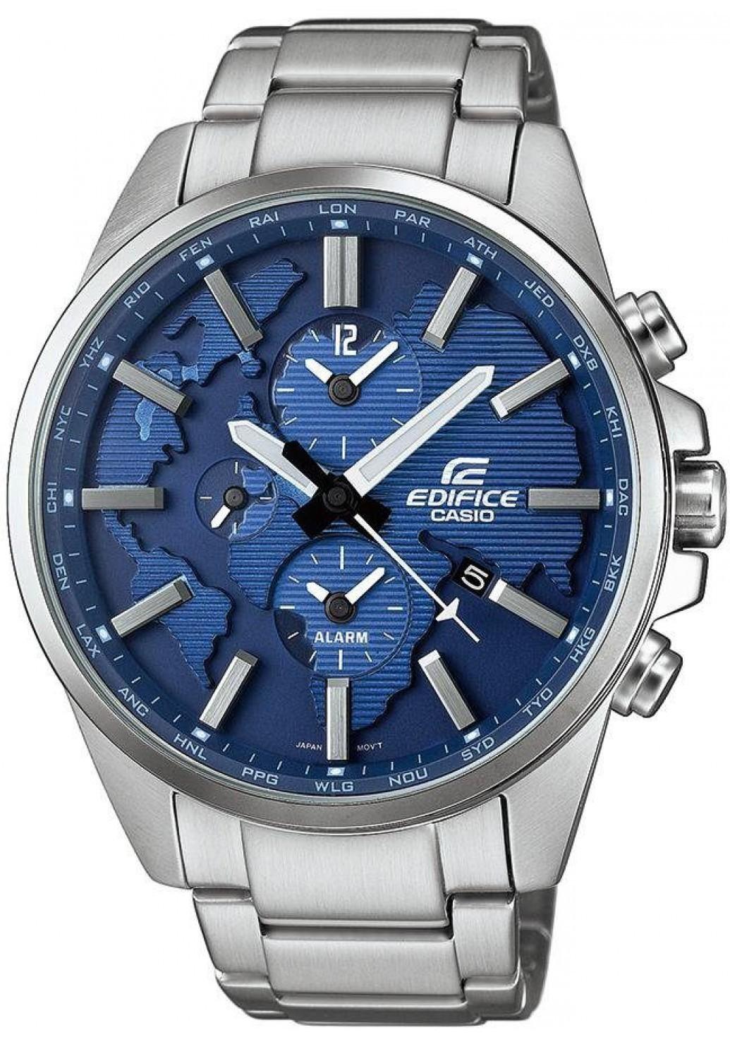 Casio Edifice ETD-300D-2A / ETD-300D-2AER - мужские наручные часыCasio<br><br><br>Бренд: Casio<br>Модель: Casio ETD-300D-2A<br>Артикул: ETD-300D-2A<br>Вариант артикула: ETD-300D-2AER<br>Коллекция: Edifice<br>Подколлекция: None<br>Страна: Япония<br>Пол: мужские<br>Тип механизма: кварцевые<br>Механизм: None<br>Количество камней: None<br>Автоподзавод: None<br>Источник энергии: от батарейки<br>Срок службы элемента питания: None<br>Дисплей: стрелки<br>Цифры: отсутствуют<br>Водозащита: WR 100<br>Противоударные: None<br>Материал корпуса: нерж. сталь<br>Материал браслета: нерж. сталь<br>Материал безеля: None<br>Стекло: минеральное<br>Антибликовое покрытие: None<br>Цвет корпуса: None<br>Цвет браслета: None<br>Цвет циферблата: None<br>Цвет безеля: None<br>Размеры: 46.3x51.8x12.9 мм<br>Диаметр: None<br>Диаметр корпуса: None<br>Толщина: None<br>Ширина ремешка: None<br>Вес: 168 г<br>Спорт-функции: None<br>Подсветка: стрелок<br>Вставка: None<br>Отображение даты: число<br>Хронограф: None<br>Таймер: None<br>Термометр: None<br>Хронометр: None<br>GPS: None<br>Радиосинхронизация: None<br>Барометр: None<br>Скелетон: None<br>Дополнительная информация: элемент питания SR927W<br>Дополнительные функции: индикатор запаса хода, второй часовой пояс, будильник (количество установок: 1)