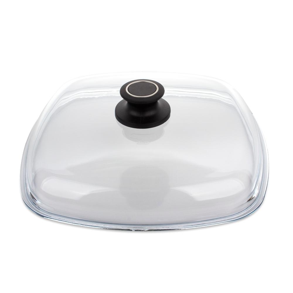 Крышка стеклянная квадратная 28x28 см AMT Glass Lids арт. AMTE28Крышки<br>диаметр (см): 28.0материал: стеклопредметов в наборе (штук): 1ручки: фиксированныестрана: Германия<br>