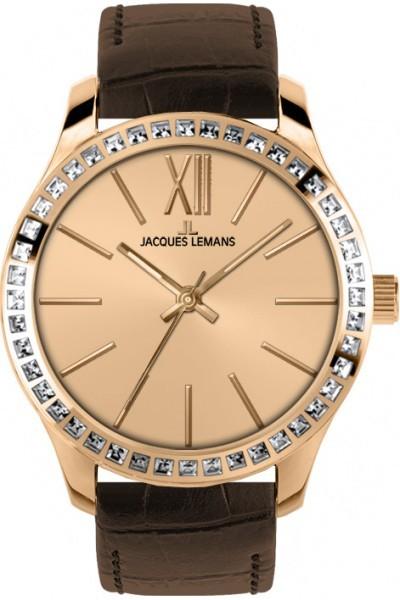 Jacques Lemans 1-1841D - женские наручные часы из коллекции RomeJacques Lemans<br><br><br>Бренд: Jacques Lemans<br>Модель: Jacques Lemans 1-1841D<br>Артикул: 1-1841D<br>Вариант артикула: None<br>Коллекция: Rome<br>Подколлекция: None<br>Страна: Австрия<br>Пол: женские<br>Тип механизма: кварцевые<br>Механизм: None<br>Количество камней: None<br>Автоподзавод: None<br>Источник энергии: от батарейки<br>Срок службы элемента питания: None<br>Дисплей: стрелки<br>Цифры: римские<br>Водозащита: WR 10<br>Противоударные: None<br>Материал корпуса: нерж. сталь, IP покрытие (полное)<br>Материал браслета: кожа<br>Материал безеля: None<br>Стекло: Crystex<br>Антибликовое покрытие: None<br>Цвет корпуса: None<br>Цвет браслета: None<br>Цвет циферблата: None<br>Цвет безеля: None<br>Размеры: 37 мм<br>Диаметр: None<br>Диаметр корпуса: None<br>Толщина: None<br>Ширина ремешка: None<br>Вес: None<br>Спорт-функции: None<br>Подсветка: None<br>Вставка: кристаллы Swarovski<br>Отображение даты: None<br>Хронограф: None<br>Таймер: None<br>Термометр: None<br>Хронометр: None<br>GPS: None<br>Радиосинхронизация: None<br>Барометр: None<br>Скелетон: None<br>Дополнительная информация: None<br>Дополнительные функции: None