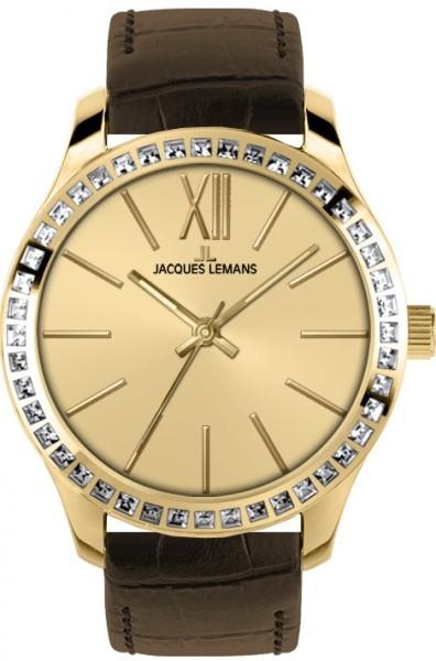 Jacques Lemans 1-1841C - женские наручные часы из коллекции RomeJacques Lemans<br><br><br>Бренд: Jacques Lemans<br>Модель: Jacques Lemans 1-1841C<br>Артикул: 1-1841C<br>Вариант артикула: None<br>Коллекция: Rome<br>Подколлекция: None<br>Страна: Австрия<br>Пол: женские<br>Тип механизма: кварцевые<br>Механизм: None<br>Количество камней: None<br>Автоподзавод: None<br>Источник энергии: от батарейки<br>Срок службы элемента питания: None<br>Дисплей: стрелки<br>Цифры: римские<br>Водозащита: WR 10<br>Противоударные: None<br>Материал корпуса: нерж. сталь, IP покрытие (полное)<br>Материал браслета: кожа<br>Материал безеля: None<br>Стекло: Crystex<br>Антибликовое покрытие: None<br>Цвет корпуса: None<br>Цвет браслета: None<br>Цвет циферблата: None<br>Цвет безеля: None<br>Размеры: 37 мм<br>Диаметр: None<br>Диаметр корпуса: None<br>Толщина: None<br>Ширина ремешка: None<br>Вес: None<br>Спорт-функции: None<br>Подсветка: None<br>Вставка: кристаллы Swarovski<br>Отображение даты: None<br>Хронограф: None<br>Таймер: None<br>Термометр: None<br>Хронометр: None<br>GPS: None<br>Радиосинхронизация: None<br>Барометр: None<br>Скелетон: None<br>Дополнительная информация: None<br>Дополнительные функции: None
