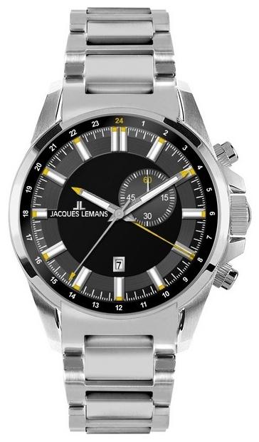 Jacques Lemans 1-1653D - мужские наручные часы из коллекции LiverpoolJacques Lemans<br><br><br>Бренд: Jacques Lemans<br>Модель: Jacques Lemans 1-1653D<br>Артикул: 1-1653D<br>Вариант артикула: None<br>Коллекция: Liverpool<br>Подколлекция: None<br>Страна: Австрия<br>Пол: мужские<br>Тип механизма: кварцевые<br>Механизм: None<br>Количество камней: None<br>Автоподзавод: None<br>Источник энергии: от батарейки<br>Срок службы элемента питания: None<br>Дисплей: стрелки<br>Цифры: отсутствуют<br>Водозащита: WR 100<br>Противоударные: None<br>Материал корпуса: нерж. сталь<br>Материал браслета: нерж. сталь<br>Материал безеля: None<br>Стекло: минеральное<br>Антибликовое покрытие: None<br>Цвет корпуса: None<br>Цвет браслета: None<br>Цвет циферблата: None<br>Цвет безеля: None<br>Размеры: 44 мм<br>Диаметр: None<br>Диаметр корпуса: None<br>Толщина: None<br>Ширина ремешка: None<br>Вес: None<br>Спорт-функции: None<br>Подсветка: стрелок<br>Вставка: None<br>Отображение даты: None<br>Хронограф: None<br>Таймер: None<br>Термометр: None<br>Хронометр: None<br>GPS: None<br>Радиосинхронизация: None<br>Барометр: None<br>Скелетон: None<br>Дополнительная информация: None<br>Дополнительные функции: второй часовой пояс, будильник