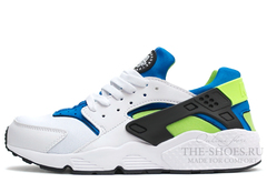 Кроссовки Мужские Nike Air Huarache White Blue Green Black