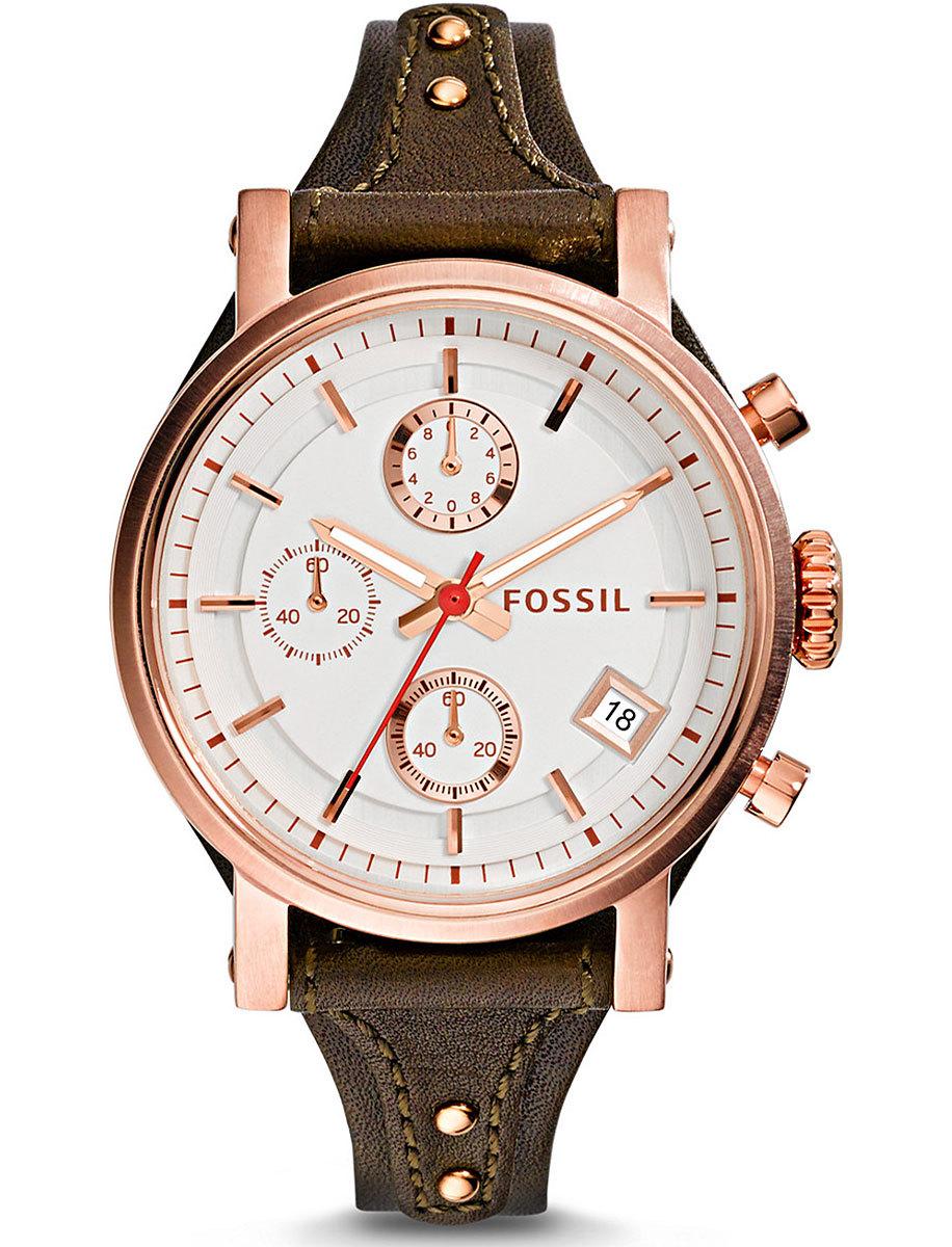 Fossil ES3616 - женские наручные часы из коллекции FashionFossil<br><br><br>Бренд: Fossil<br>Модель: Fossil ES3616<br>Артикул: ES3616<br>Вариант артикула: None<br>Коллекция: Fashion<br>Подколлекция: None<br>Страна: США<br>Пол: женские<br>Тип механизма: кварцевые<br>Механизм: None<br>Количество камней: None<br>Автоподзавод: None<br>Источник энергии: от батарейки<br>Срок службы элемента питания: None<br>Дисплей: стрелки<br>Цифры: отсутствуют<br>Водозащита: WR 50<br>Противоударные: None<br>Материал корпуса: нерж. сталь, PVD покрытие: позолота (полное)<br>Материал браслета: кожа (не указан)<br>Материал безеля: None<br>Стекло: минеральное<br>Антибликовое покрытие: None<br>Цвет корпуса: None<br>Цвет браслета: None<br>Цвет циферблата: None<br>Цвет безеля: None<br>Размеры: 38x12 мм<br>Диаметр: None<br>Диаметр корпуса: None<br>Толщина: None<br>Ширина ремешка: None<br>Вес: None<br>Спорт-функции: секундомер<br>Подсветка: стрелок<br>Вставка: None<br>Отображение даты: число<br>Хронограф: есть<br>Таймер: None<br>Термометр: None<br>Хронометр: None<br>GPS: None<br>Радиосинхронизация: None<br>Барометр: None<br>Скелетон: None<br>Дополнительная информация: None<br>Дополнительные функции: None