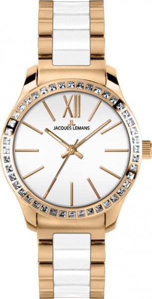 Jacques Lemans 1-1797D - женские наручные часы из коллекции RomeJacques Lemans<br><br><br>Бренд: Jacques Lemans<br>Модель: Jacques Lemans 1-1797D<br>Артикул: 1-1797D<br>Вариант артикула: None<br>Коллекция: Rome<br>Подколлекция: None<br>Страна: Австрия<br>Пол: женские<br>Тип механизма: кварцевые<br>Механизм: None<br>Количество камней: None<br>Автоподзавод: None<br>Источник энергии: от батарейки<br>Срок службы элемента питания: None<br>Дисплей: стрелки<br>Цифры: римские<br>Водозащита: WR 10<br>Противоударные: None<br>Материал корпуса: нерж. сталь, IP покрытие (полное)<br>Материал браслета: нерж. сталь + керамика, IP покрытие (частичное)<br>Материал безеля: None<br>Стекло: Crystex<br>Антибликовое покрытие: None<br>Цвет корпуса: None<br>Цвет браслета: None<br>Цвет циферблата: None<br>Цвет безеля: None<br>Размеры: 37 мм<br>Диаметр: None<br>Диаметр корпуса: None<br>Толщина: None<br>Ширина ремешка: None<br>Вес: None<br>Спорт-функции: None<br>Подсветка: стрелок<br>Вставка: кристаллы Swarovski<br>Отображение даты: None<br>Хронограф: None<br>Таймер: None<br>Термометр: None<br>Хронометр: None<br>GPS: None<br>Радиосинхронизация: None<br>Барометр: None<br>Скелетон: None<br>Дополнительная информация: None<br>Дополнительные функции: None