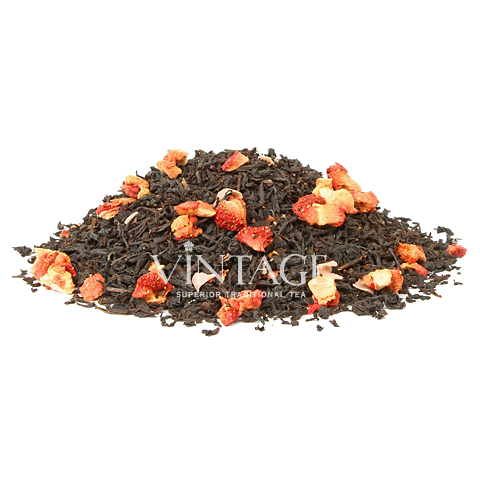 Алиса в Зазеркалье (чай черный байховый ароматизированный листовой)Весовой чай<br>Алиса в Зазеркалье (чай черный байховый ароматизированный листовой)<br><br><br><br><br><br><br><br><br><br>Время заваривания<br>Температура заваривания<br>Количество заварки<br><br><br><br>Рекомендуемое время заваривания 4-5мин.<br><br><br>Рекомендуемая температура заваривания90-95 °С<br><br><br>Рекомендуемое количество заварки 3-4гр из расчета на 200-300мл.<br><br><br><br><br><br>Состав: черный индийский чай, шоколадно-клубничные лепестки и кусочки клубники.<br>Описание: клубника нормализует обмен веществ в организме, помогает при сердечно-сосудистых заболеваниях. Терпкий вкус индийского чая дополняют клубничные нотки.<br>