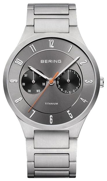 Bering 11539-779 - мужские наручные часыBering<br>мужские, сапфировое стекло, корпус из титана,  браслет из титана, циферблат серого цвета, multifunction<br><br>Бренд: Bering<br>Модель: Bering 11539-779<br>Артикул: 11539-779<br>Вариант артикула: ber-11539-779<br>Коллекция: None<br>Подколлекция: None<br>Страна: Дания<br>Пол: мужские<br>Тип механизма: кварцевые<br>Механизм: None<br>Количество камней: None<br>Автоподзавод: None<br>Источник энергии: от батарейки<br>Срок службы элемента питания: None<br>Дисплей: стрелки<br>Цифры: арабские<br>Водозащита: WR 100<br>Противоударные: None<br>Материал корпуса: титан<br>Материал браслета: титан<br>Материал безеля: None<br>Стекло: сапфировое<br>Антибликовое покрытие: None<br>Цвет корпуса: None<br>Цвет браслета: None<br>Цвет циферблата: None<br>Цвет безеля: None<br>Размеры: 39 мм<br>Диаметр: None<br>Диаметр корпуса: None<br>Толщина: None<br>Ширина ремешка: None<br>Вес: None<br>Спорт-функции: None<br>Подсветка: стрелок<br>Вставка: None<br>Отображение даты: число, день недели<br>Хронограф: None<br>Таймер: None<br>Термометр: None<br>Хронометр: None<br>GPS: None<br>Радиосинхронизация: None<br>Барометр: None<br>Скелетон: None<br>Дополнительная информация: None<br>Дополнительные функции: None