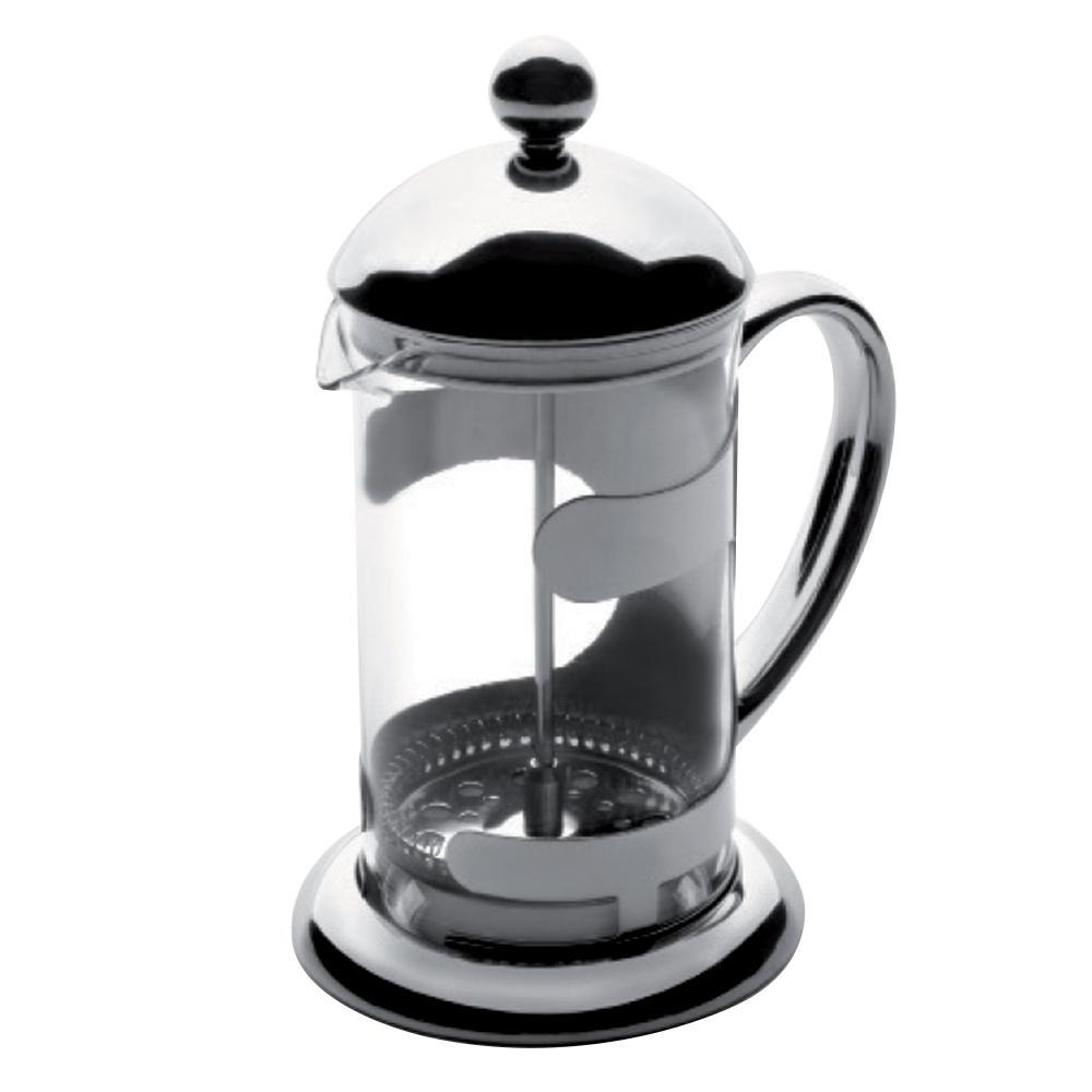 Чайник френч-пресс 800 мл IBILI Kristall арт. 621808Посуда для приготовления IBILI (Испания)<br>вид упаковки:подарочнаякрышка:естьматериал:стеклообъем (л):0.80предметов в наборе (штук):1ручки:фиксированныестрана:Испания<br><br>В этом стильном чайнике вы сможете легко и быстро заварить ваш любимый напиток и наслаждаться его насыщенным цветом сквозь стеклянные стенки. При этом удобная ручка чайника всегда остается холодной, а его носик сконструирован таким образом, что при наклоне ни одна капля не прольется мимо чашки.<br>Объемы френч-прессов этой серии 600 и 800 мл позволяют устроить домашнее чаепитие для всей семьи, а также угостить ароматным свежезаваренным напитком своих гостей. А благодаря элегантному классическому дизайну чайник способен стать достойным элементов сервировки любого стола, как повседневного, так и праздничного.<br>
