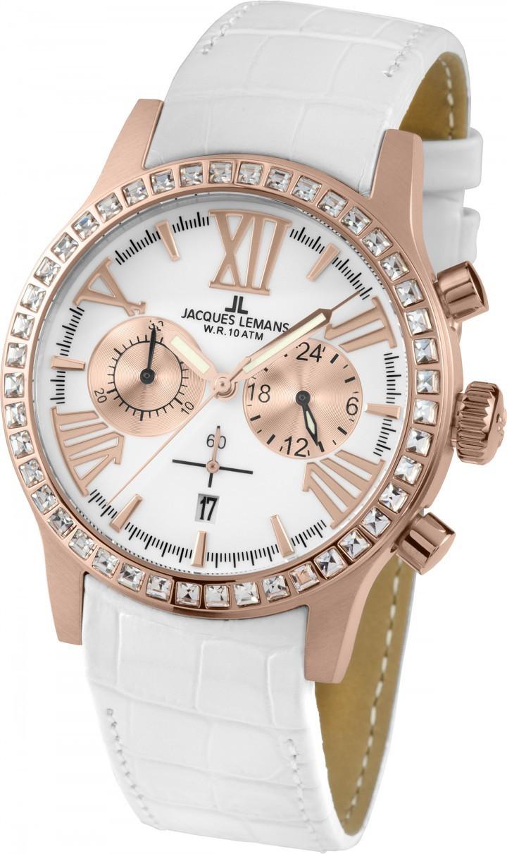 Jacques Lemans 1-1810D - женские наручные часы из коллекции PortoJacques Lemans<br><br><br>Бренд: Jacques Lemans<br>Модель: Jacques Lemans 1-1810D<br>Артикул: 1-1810D<br>Вариант артикула: None<br>Коллекция: Porto<br>Подколлекция: None<br>Страна: Австрия<br>Пол: женские<br>Тип механизма: кварцевые<br>Механизм: None<br>Количество камней: None<br>Автоподзавод: None<br>Источник энергии: от батарейки<br>Срок службы элемента питания: None<br>Дисплей: стрелки<br>Цифры: римские<br>Водозащита: WR 10<br>Противоударные: None<br>Материал корпуса: нерж. сталь, IP покрытие (полное)<br>Материал браслета: кожа<br>Материал безеля: None<br>Стекло: Crystex<br>Антибликовое покрытие: None<br>Цвет корпуса: None<br>Цвет браслета: None<br>Цвет циферблата: None<br>Цвет безеля: None<br>Размеры: 42 мм<br>Диаметр: None<br>Диаметр корпуса: None<br>Толщина: None<br>Ширина ремешка: None<br>Вес: None<br>Спорт-функции: секундомер<br>Подсветка: стрелок<br>Вставка: None<br>Отображение даты: число<br>Хронограф: есть<br>Таймер: None<br>Термометр: None<br>Хронометр: None<br>GPS: None<br>Радиосинхронизация: None<br>Барометр: None<br>Скелетон: None<br>Дополнительная информация: None<br>Дополнительные функции: None