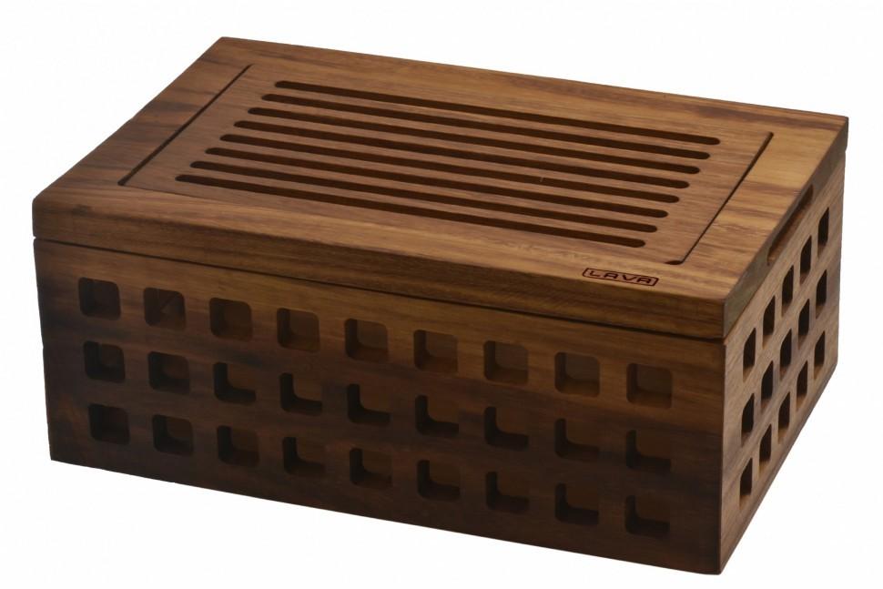Хлебница с разделочной доской LAVA IROKO Premium 26х40см LVAS405IRSETХлебницы<br><br>