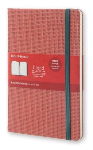 Блокнот Moleskine Blend Large Limited Edition, цвет красный, в линейкуMOLESKINE<br>Количество страниц: 192<br>