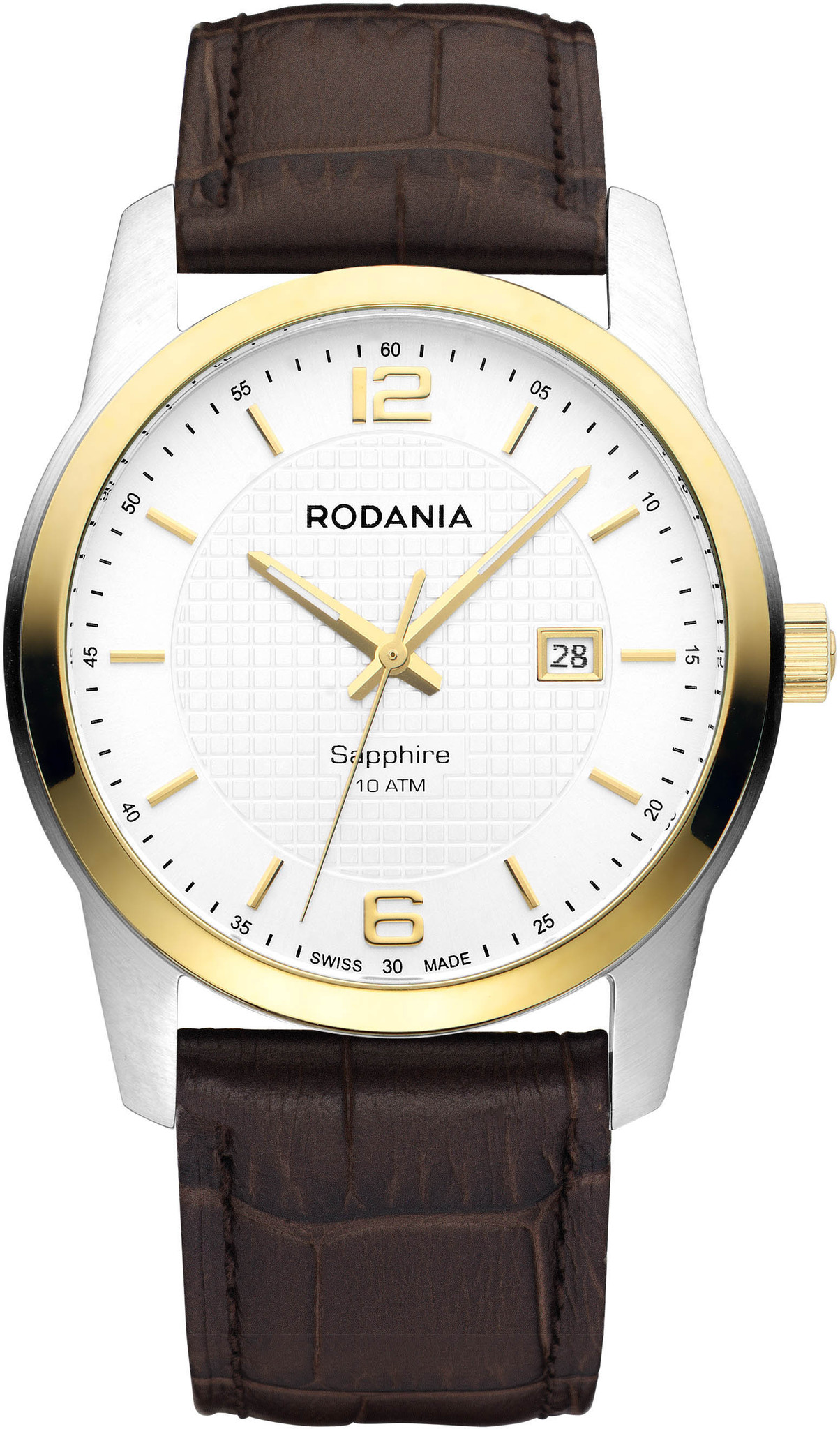 Rodania 25110.70 - мужские наручные часы из коллекции VANCOUVERRodania<br><br><br>Бренд: Rodania<br>Модель: Rodania 25110.70<br>Артикул: 25110.70<br>Вариант артикула: None<br>Коллекция: VANCOUVER<br>Подколлекция: None<br>Страна: Швейцария<br>Пол: мужские<br>Тип механизма: кварцевые<br>Механизм: Ronda 505<br>Количество камней: None<br>Автоподзавод: None<br>Источник энергии: от батарейки<br>Срок службы элемента питания: None<br>Дисплей: стрелки<br>Цифры: арабские<br>Водозащита: WR 100<br>Противоударные: None<br>Материал корпуса: нерж. сталь, IP покрытие (частичное)<br>Материал браслета: кожа<br>Материал безеля: None<br>Стекло: сапфировое<br>Антибликовое покрытие: None<br>Цвет корпуса: None<br>Цвет браслета: None<br>Цвет циферблата: None<br>Цвет безеля: None<br>Размеры: 40 мм<br>Диаметр: None<br>Диаметр корпуса: None<br>Толщина: None<br>Ширина ремешка: None<br>Вес: None<br>Спорт-функции: None<br>Подсветка: None<br>Вставка: None<br>Отображение даты: число<br>Хронограф: None<br>Таймер: None<br>Термометр: None<br>Хронометр: None<br>GPS: None<br>Радиосинхронизация: None<br>Барометр: None<br>Скелетон: None<br>Дополнительная информация: None<br>Дополнительные функции: None