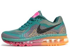 Кроссовки Женские Nike Air Max 2014 Dark Green Orange Pink