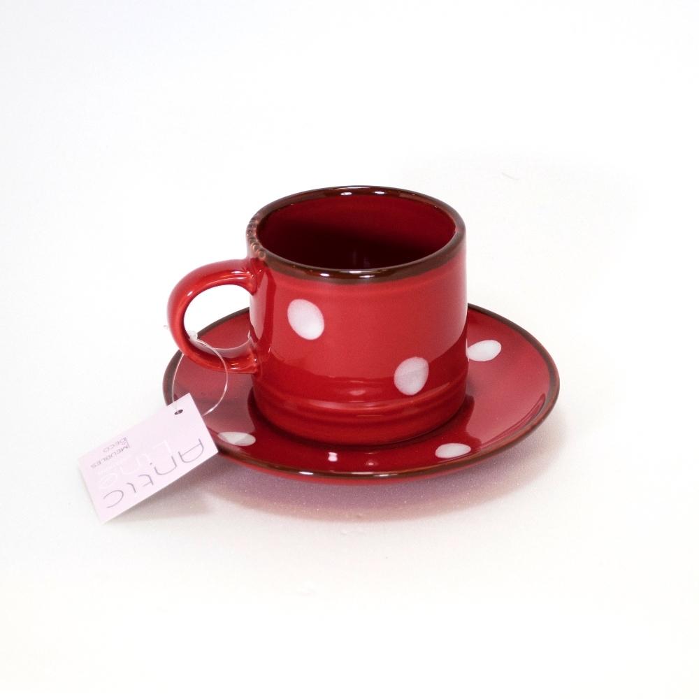 Чашка с блюдцем Фарфор и керамика Antic Line<br>Чашка с блюдцем <br>120 мл <br>Серия Comme a la campagne / Как в деревне   <br>Керамика, стилизовано под эмалированный металл   <br>Antic Line, Франция<br>