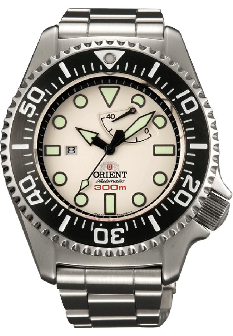 Orient EL02003W / SEL02003W0 - мужские наручные часы из коллекции Pro SaturationORIENT<br><br><br>Бренд: ORIENT<br>Модель: ORIENT EL02003W<br>Артикул: EL02003W<br>Вариант артикула: SEL02003W0<br>Коллекция: Pro Saturation<br>Подколлекция: None<br>Страна: Япония<br>Пол: мужские<br>Тип механизма: механические<br>Механизм: ORIENT 40N5A<br>Количество камней: 22<br>Автоподзавод: есть<br>Источник энергии: пружинный механизм<br>Срок службы элемента питания: None<br>Дисплей: стрелки<br>Цифры: отсутствуют<br>Водозащита: WR 300<br>Противоударные: None<br>Материал корпуса: нерж. сталь<br>Материал браслета: нерж. сталь<br>Материал безеля: None<br>Стекло: сапфировое<br>Антибликовое покрытие: есть<br>Цвет корпуса: None<br>Цвет браслета: None<br>Цвет циферблата: None<br>Цвет безеля: None<br>Размеры: 45.4x16.6 мм<br>Диаметр: None<br>Диаметр корпуса: None<br>Толщина: None<br>Ширина ремешка: None<br>Вес: 231 г<br>Спорт-функции: None<br>Подсветка: стрелок<br>Вставка: None<br>Отображение даты: число<br>Хронограф: None<br>Таймер: None<br>Термометр: None<br>Хронометр: None<br>GPS: None<br>Радиосинхронизация: None<br>Барометр: None<br>Скелетон: None<br>Дополнительная информация: возможность ручного завода, запас хода 40 часов, в комплекте запасной ремешок и инструмент для смены браслета<br>Дополнительные функции: индикатор запаса хода