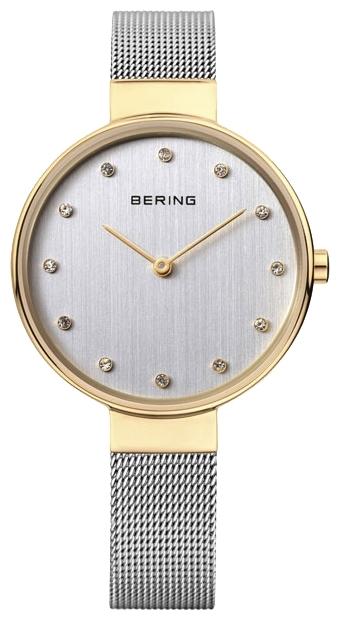 Bering 12034-010 - женские наручные часыBering<br>женские, сапфировое стекло, корпус из нерж. стали с покрытием pvd золотого цвета ,  браслет из нерж. стали, циферблат белого цвета с 12-ю кристаллами swarovski<br><br>Бренд: Bering<br>Модель: Bering 12034-010<br>Артикул: 12034-010<br>Вариант артикула: ber-12034-010<br>Коллекция: None<br>Подколлекция: None<br>Страна: Дания<br>Пол: женские<br>Тип механизма: кварцевые<br>Механизм: None<br>Количество камней: None<br>Автоподзавод: None<br>Источник энергии: от батарейки<br>Срок службы элемента питания: None<br>Дисплей: стрелки<br>Цифры: отсутствуют<br>Водозащита: WR 30<br>Противоударные: None<br>Материал корпуса: нерж. сталь, IP покрытие (полное)<br>Материал браслета: нерж. сталь<br>Материал безеля: None<br>Стекло: сапфировое<br>Антибликовое покрытие: None<br>Цвет корпуса: None<br>Цвет браслета: None<br>Цвет циферблата: None<br>Цвет безеля: None<br>Размеры: None<br>Диаметр: None<br>Диаметр корпуса: 34<br>Толщина: None<br>Ширина ремешка: None<br>Вес: None<br>Спорт-функции: None<br>Подсветка: None<br>Вставка: кристаллы Swarovski<br>Отображение даты: None<br>Хронограф: None<br>Таймер: None<br>Термометр: None<br>Хронометр: None<br>GPS: None<br>Радиосинхронизация: None<br>Барометр: None<br>Скелетон: None<br>Дополнительная информация: None<br>Дополнительные функции: None