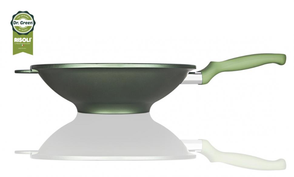 Литая сковорода Вок Risoli Dr Green 30см 00080DR/30GSВоки<br><br>