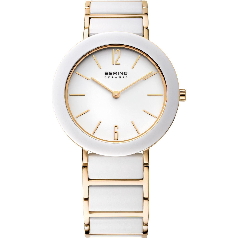 Bering 11435-759 - женские наручные часы из коллекции CeramicBering<br>женские, сапфировое стекло, корпус из нерж. стали с покрытием pvd золотого цвета  с безелем из керамики белого цвета,  браслет из нерж. стали с покрытием pvd золотого цвета  со вставками из керамики белого цвета, циферблат белого цвета<br><br>Бренд: Bering<br>Модель: Bering 11435-759<br>Артикул: 11435-759<br>Вариант артикула: ber-11435-759<br>Коллекция: Ceramic<br>Подколлекция: None<br>Страна: Дания<br>Пол: женские<br>Тип механизма: кварцевые<br>Механизм: Miyota<br>Количество камней: None<br>Автоподзавод: None<br>Источник энергии: от батарейки<br>Срок службы элемента питания: None<br>Дисплей: стрелки<br>Цифры: арабские<br>Водозащита: WR 50<br>Противоударные: None<br>Материал корпуса: нерж. сталь + керамика, PVD покрытие: позолота (частичное)<br>Материал браслета: нерж. сталь + керамика, PVD покрытие (частичное): позолота<br>Материал безеля: керамика<br>Стекло: сапфировое<br>Антибликовое покрытие: None<br>Цвет корпуса: золотой<br>Цвет браслета: золотой<br>Цвет циферблата: None<br>Цвет безеля: белый<br>Размеры: 35 мм<br>Диаметр: 35 мм<br>Диаметр корпуса: None<br>Толщина: None<br>Ширина ремешка: None<br>Вес: None<br>Спорт-функции: None<br>Подсветка: None<br>Вставка: None<br>Отображение даты: None<br>Хронограф: None<br>Таймер: None<br>Термометр: None<br>Хронометр: None<br>GPS: None<br>Радиосинхронизация: None<br>Барометр: None<br>Скелетон: None<br>Дополнительная информация: None<br>Дополнительные функции: None