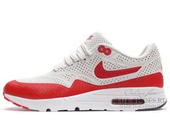 Кроссовки Мужские Nike Air Max 1 White Red