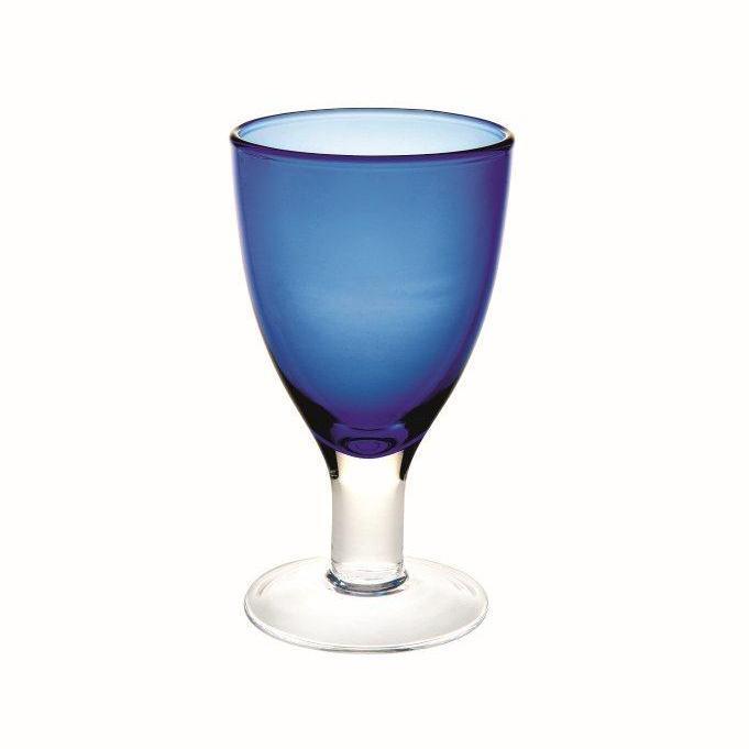Бокал для вина цвет светлый кобальтСерия бокалов Веселый (Casa Alegre)<br>Бокал для вина цвет светлый кобальт Серия Cheerful/Веселый<br>Высота 142 мм, емкость 220 мл<br>Бренд: Casa Alegre<br>Производитель: Vista Alegre Atlantis, Португалия<br>