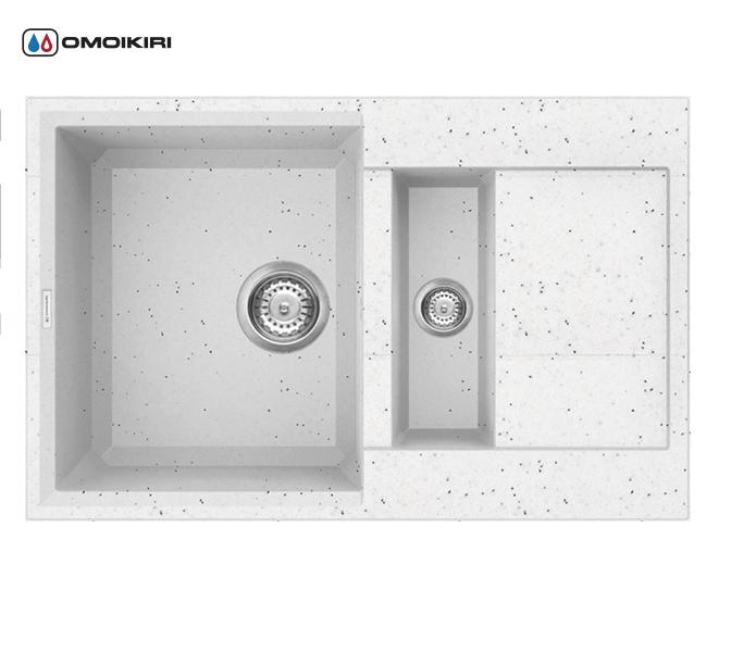 Кухонная мойка из искусственного гранита (Tetogranit) OMOIKIRI Sakaime 78-2-EV (4993200)Кухонные мойки из искусственного гранита<br>Кухонная мойка из искусственного гранита (Tetogranit) OMOIKIRI Sakaime 78-2-EV (4993200)<br><br><br><br><br><br>Преимущества моек из Tetogranit<br><br><br><br><br><br><br><br><br>Устойчива к царапинам<br>Устойчива к ударам<br>Не впитывает запахи<br>Не окрашивается от продуктов<br><br><br><br><br>TETOGRANIT на 80% состоят из гранитной крошки и на 20% из акриловой смолы. Кухонные мойки из композитного материала TETOGRANIT, обладают специфическими свойствами и особыми характеристиками. Ему свойственна высокая надежность, однородная структура, а также устойчивость к воздействию различных химических веществ.В состав акриловой смолы входят ионы серебра, которые препятствуют размножению бактерий на поверхности мойки.<br>TETOGRANIT имеет превосходную сопротивляемость к ударам и царапинам.Мойка прослужит долгие годы, сохранив первоначальный вид.<br>Компания OMOIKIRI обладает уникальной инновационной системой производства: T.P.S. (TETOGRANIT Production System).Новая технология была запатентована компанией OMOIKIRI в 2014 году. Данную технологию можно смело считать самой прогрессивной среди производителей продукции из утверждающихся композиционных материалов в кухонном сегменте.<br>Комплектация:<br><br>крепления;<br>донный клапан (автоматический донный клапан приобретается отдельно);<br>сифон.<br><br><br><br><br><br>Руководство по монтажу<br><br><br><br>Официальный сертифицированный продавец OMOIKIRI™<br>