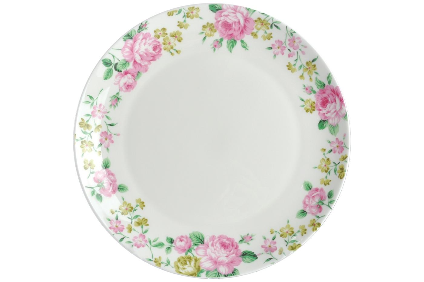 Набор из 6 тарелок Royal Aurel Прованс (25см) арт.624Наборы тарелок<br>Набор из 6 тарелок Royal Aurel Прованс (25см) арт.624<br>Производить посуду из фарфора начали в Китае на стыке 6-7 веков. Неустанно совершенствуя и селективно отбирая сырье для производства посуды из фарфора, мастерам удалось добиться выдающихся характеристик фарфора: белизны и тонкостенности. В XV веке появился особый интерес к китайской фарфоровой посуде, так как в это время Европе возникла мода на самобытные китайские вещи. Роскошный китайский фарфор являлся изыском и был в новинку, поэтому он выступал в качестве подарка королям, а также знатным людям. Такой дорогой подарок был очень престижен и по праву являлся элитной посудой. Как известно из многочисленных исторических документов, в Европе китайские изделия из фарфора ценились практически как золото. <br>Проверка изделий из костяного фарфора на подлинность <br>По сравнению с производством других видов фарфора процесс производства изделий из настоящего костяного фарфора сложен и весьма длителен. Посуда из изящного фарфора - это элитная посуда, которая всегда ассоциируется с богатством, величием и благородством. Несмотря на небольшую толщину, фарфоровая посуда - это очень прочное изделие. Для демонстрации плотности и прочности фарфора можно легко коснуться предметов посуды из фарфора деревянной палочкой, и тогда мы услушим характерный металлический звон. В составе фарфоровой посуды присутствует костяная зола, благодаря чему она может быть намного тоньше (не более 2,5 мм) и легче твердого или мягкого фарфора. Безупречная белизна - ключевой признак отличия такого фарфора от других. Цвет обычного фарфора сероватый или ближе к голубоватому, а костяной фарфор будет всегда будет молочно-белого цвета. Характерная и немаловажная деталь - это невесомая прозрачность изделий из фарфора такая, что сквозь него проходит свет.<br>