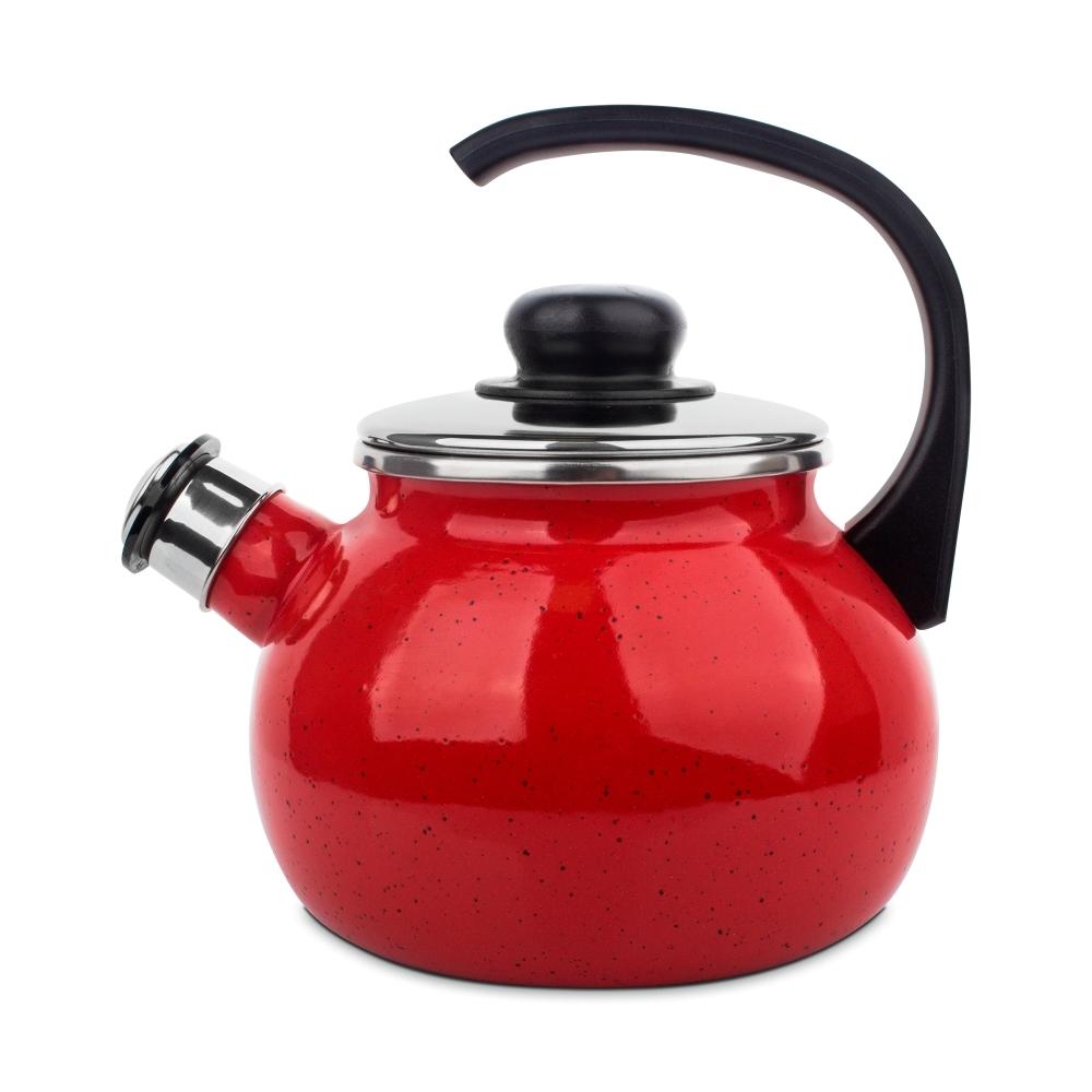 Чайник со свистком 2л IBILI Korinto арт. 961920Чайники со свистком<br>Чайник со свистком 2л IBILI Korinto арт. 961920<br><br>Двухлитровый чайник со свистком из коллекции Korinto, изготовленный из эмалированной нержавеющей стали, удобен и практичен, как и вся продукция испанского бренда Ibili. Его эргономичная, продуманная до мелочей конструкция и стильный дизайн в сочетании с надежностью и великолепными эксплуатационными свойствами стали залогом популярности на европейских кухнях.<br>Чайник имеет удобную не нагревающуюся ручку и оснащен свистком, благодаря которому вы не пропустите момент закипания воды, и пригоден для использования на любых варочных поверхностях, включая индукционные.<br>